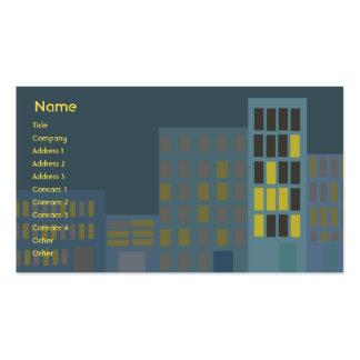 Ciudad - negocio tarjetas de visita