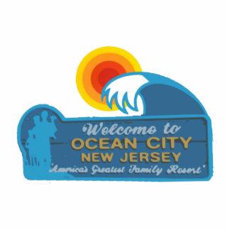 Ciudad NJ del océano Esculturas Fotográficas