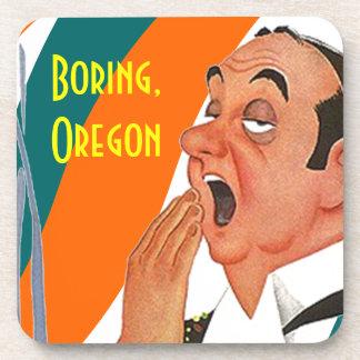 Ciudad nombrada lugar del bostezo de Boring Oregon Posavasos De Bebidas