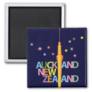 Ciudad Nueva Zelanda de Auckland Imán Cuadrado