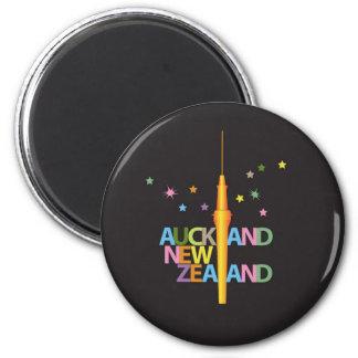 Ciudad Nueva Zelanda de Auckland Imán Redondo 5 Cm