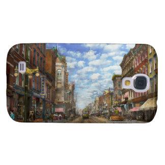 Ciudad - NY - calle principal. Poughkeepsie, NY - Carcasa Para Galaxy S4