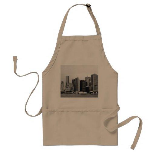 Ciudad - NY - el distrito financiero - BW Delantal