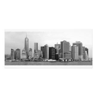Ciudad - NY - el distrito financiero - BW Diseño De Tarjeta Publicitaria
