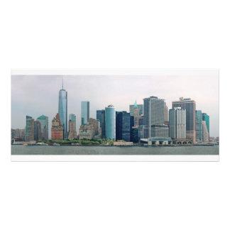 Ciudad - NY - el distrito financiero Plantillas De Lonas