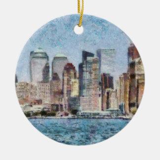 Ciudad - NY - Manhattan Ornamento Para Reyes Magos