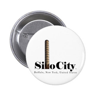 Ciudad oficial de Silo: Búfalo NY, botón de los E. Pins