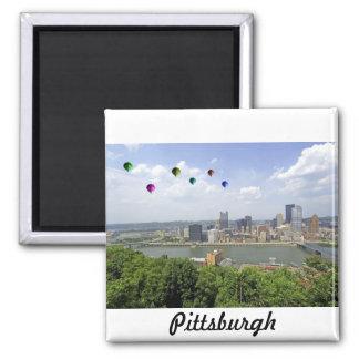 Ciudad Pennsylvania de Pittsburgh Imán Cuadrado