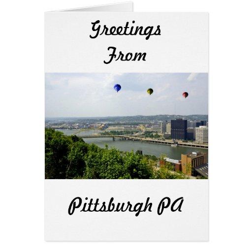 Ciudad Pennsylvania de Pittsburgh Tarjeta