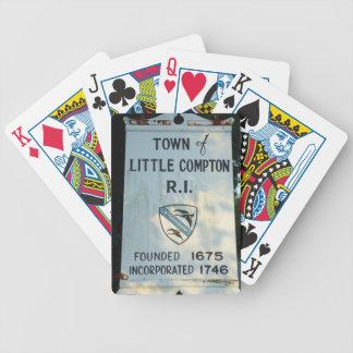 Ciudad pequeño Compton, RI - fundado 1675 Baraja De Cartas