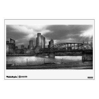 Ciudad - Pittsburgh, PA - puente BW de Smithfield