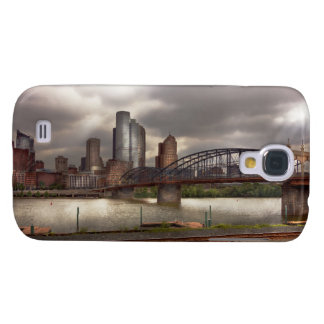 Ciudad - Pittsburgh, PA - puente de Smithfield Funda Samsung S4