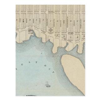 Ciudad por el mar, playa de Squan, NJ de Tarjeta Postal