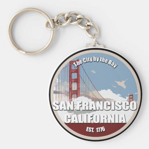 Ciudad por la bahía, San Francisco California Llaveros Personalizados