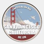 Ciudad por la bahía, San Francisco California Etiqueta