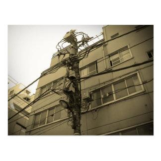 Ciudad poste eléctrico de Tokio Tarjeta Postal
