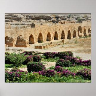 Ciudad púnica antigua de Cartago, destruida y Póster