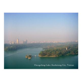 Ciudad que despierta/lago Chengching, Gaoxiong, Ta Tarjeta Postal