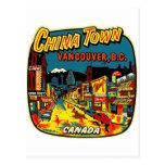 Ciudad retra Vancouver de China del kitsch del vin Tarjetas Postales