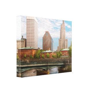 Ciudad - RI - Providence - la ciudad de Providence Lona Envuelta Para Galerías