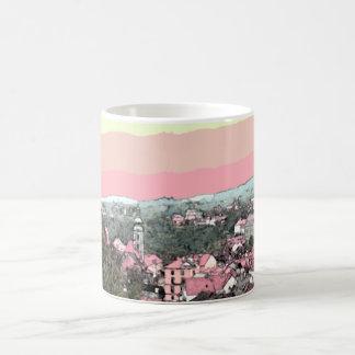 Ciudad rosada taza