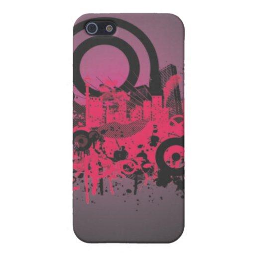 Ciudad rosada urbana iPhone 5 carcasas