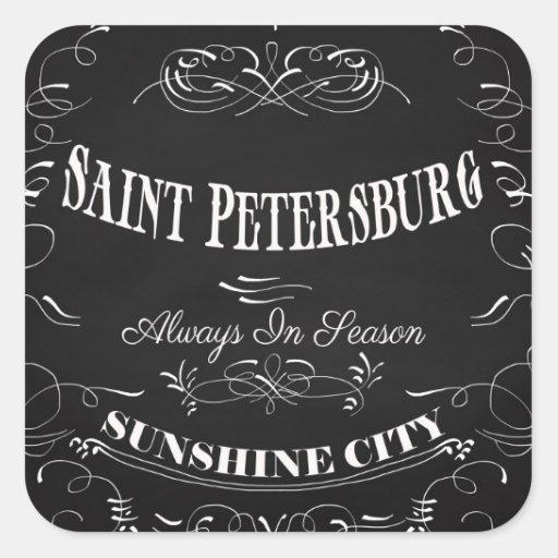 Ciudad-Santo Petersburgo-Siempre de la sol de Pegatina Cuadrada