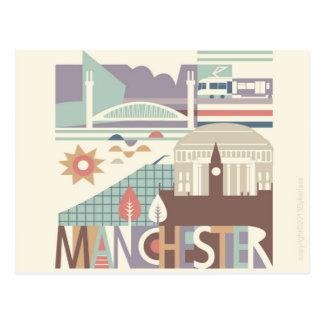 Ciudad Scape Manchester y la postal del noroeste