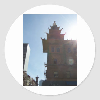 Ciudad SF CA de China Pegatina Redonda