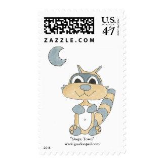 Ciudad soñolienta sello postal
