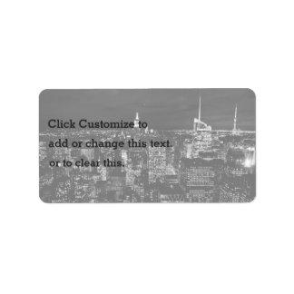 Ciudad temática, Lit de los rascacielos en la Etiquetas De Dirección