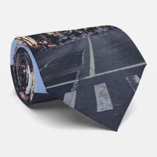 Ciudad temática, paso de peatones del uso de los corbata personalizada