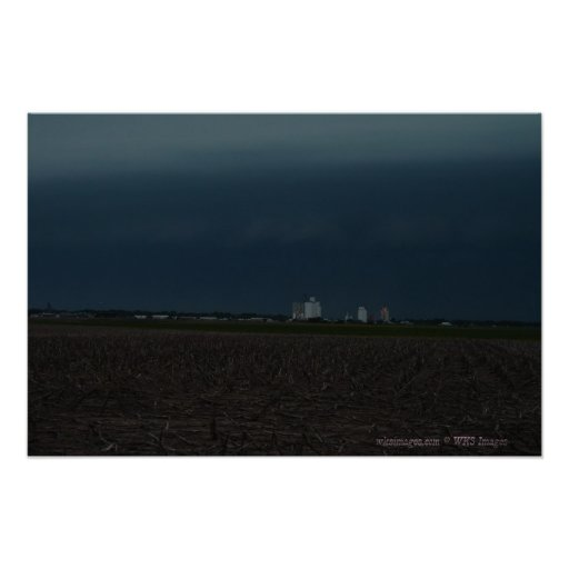 Ciudad tempestuosa de Cielo-Scott, Kansas Posters