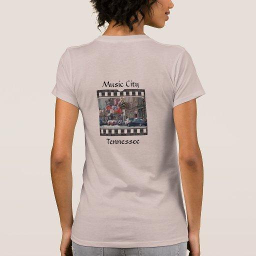 Ciudad Tennessee de la música Camisetas