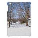 Ciudad típica de Vermont en invierno iPad Mini Protectores