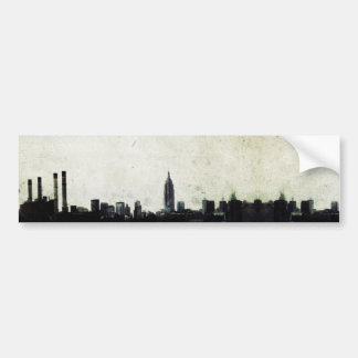 Ciudad urbana etiqueta de parachoque