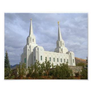 Ciudad Utah LDS, templo mormón de Brigham Fotografía