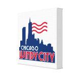Ciudad ventosa de Chicago Impresión En Lienzo Estirada