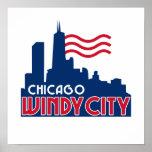 Ciudad ventosa de Chicago Poster