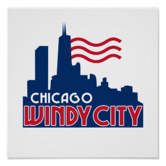Ciudad ventosa de Chicago Póster