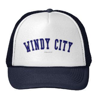 Ciudad ventosa gorras de camionero