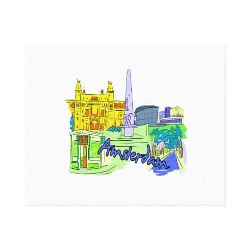 ciudad verde image.png de Amsterdam Impresión De Lienzo