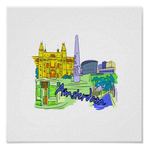 ciudad verde image.png de Amsterdam Poster