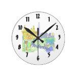 ciudad verde image.png de Amsterdam Relojes De Pared