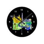 ciudad verde image.png de Amsterdam Reloj De Pared