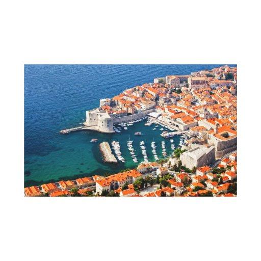 Ciudad vieja de Dubrovnik Lienzo Envuelto Para Galerías