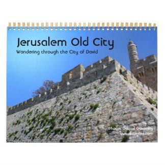 Ciudad vieja de Jerusalén Calendarios De Pared