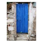Ciudad vieja de la PUERTA AZUL de Chania, Creta Tarjeta Postal