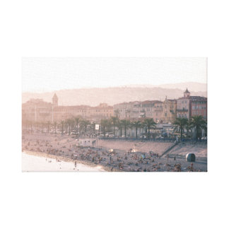 Ciudad vieja de Niza, Francia Impresión En Lienzo Estirada