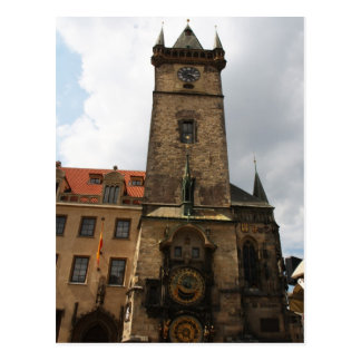 Ciudad vieja de Praga ayuntamiento postal de la